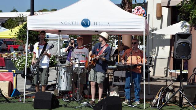 The SAndbox band performs for the GoAskMom event at North Hills.