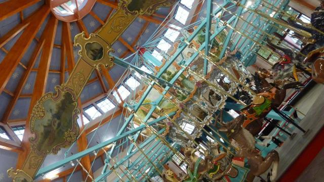 Pullen Park's restored carousel.