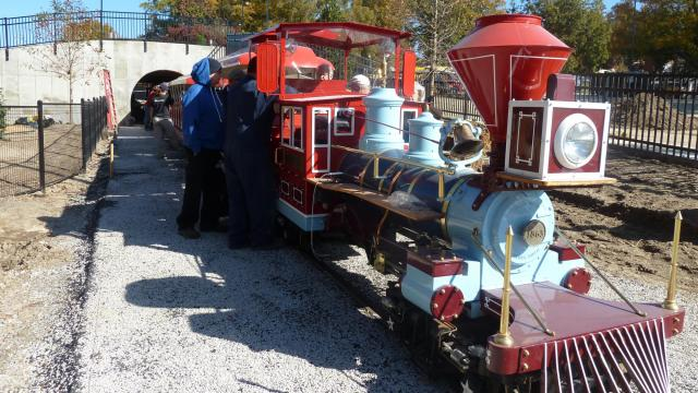 New conductors learn to drive the train at Pullen Park on Nov. 9.
