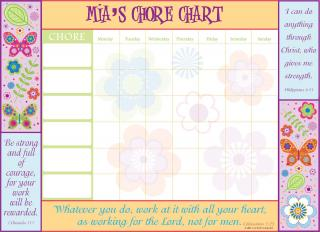 A chore chart from ScriptureArt