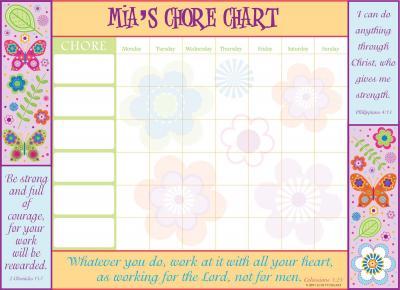A chore chart from ScriptureArt
