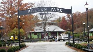 A new sign at Pullen Park.