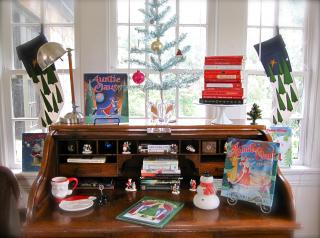 Lost in a Book bloggers write about how they decorate with books during the holidays.
