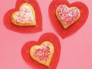 Heart tarts for Valentine's Day
