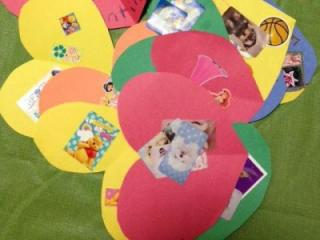 Just construction paper, crayons, marker, stickers and stamps to make these Valentine's Day cards.