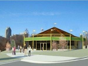 An artist's rendering of the Chavis Park carousel building