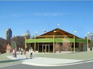 An artist's rendering of the Chavis Park carousel building
