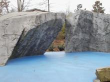 North Cary Park's climbing boulders