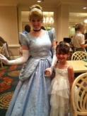 Lynda's daughter with Cinderella in Orlando