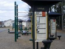 Fitness stations at Veterans Park