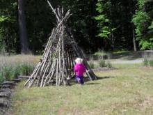 Teepee at Wilkerson Nature Preserve