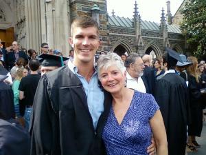 Laura Stillman with son Josh at his graduation from Duke University