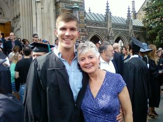 Laura Stillman with son Josh at his graduation from Duke University
