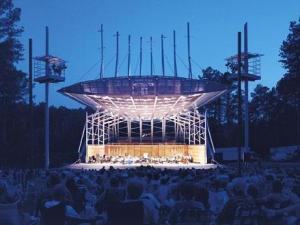 The N.C. Symphony performs at Koka Booth Amphitheatre. Photo courtesy: N.C. Symphony