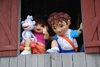 Dora, Diego and Boots at Tweetsie Railroad