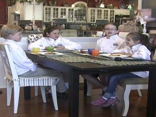 Susan Caldwell, founder of Lil' Chef studios in North Hills, and her teams of young chefs show how to make homemade vegetable pizza, a great lunch for children ages 8 to 11 to make themselves.