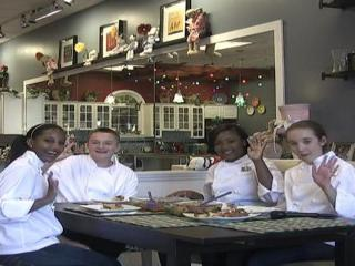 The team of teen chefs at Lil Chef studios in North Hills shows how to make spinach stuffed shells and simple basil bruschetta.