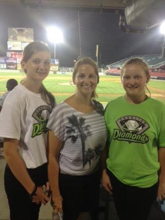 The Browns at the Carolina Diamonds game