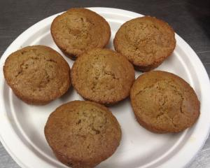 Gluten free, vegan carrot raisin muffins Courtesy: Pullen Place Cafe