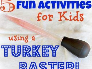 Crafty Mom: 5 activities for kids using a turkey baster. Courtesy: In Lieu of Preschool