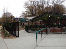 Holiday decorations at Pullen Park