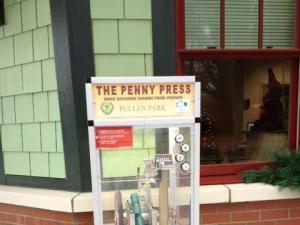 Penny Press machine at Pullen Park