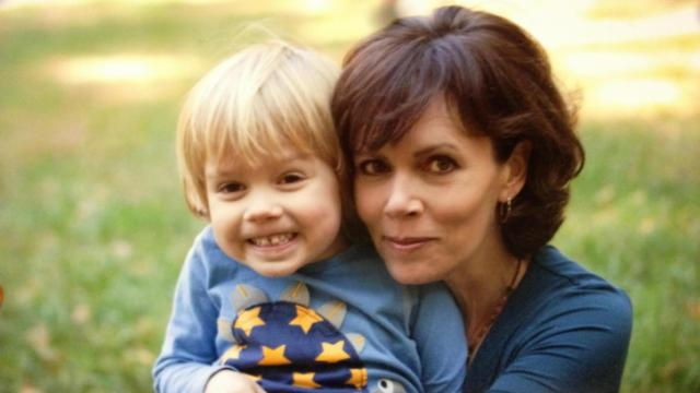 WRAL-TV reporter Julia Sims with son Will