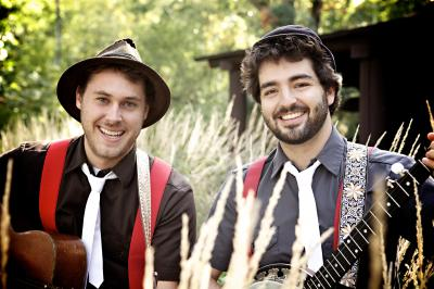 The Okee Dokee Brothers will perform at The ArtsCenter in Carrboro in April 2013. Photo courtesy of Alex Johnson.