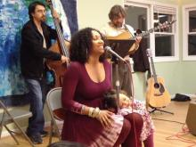 Rissi Palmer performs at CD listening party