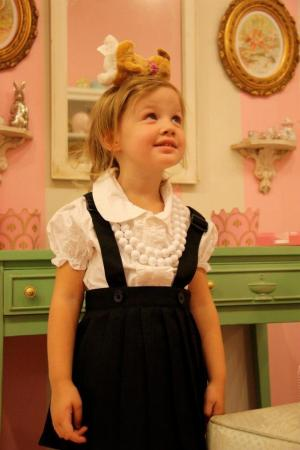 Dressed up as Eloise at In the Oak Treetops in Raleigh