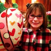 Amanda Lamb's daughter marks Valentine's Day