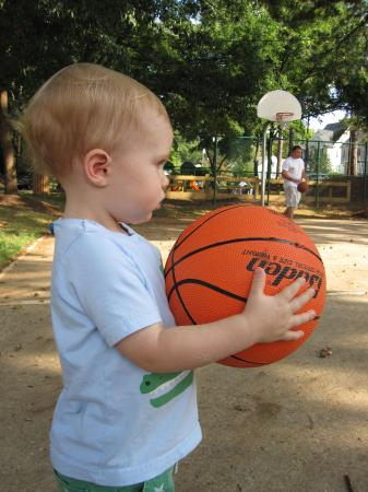 Will with his basketball