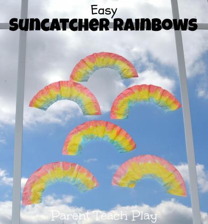 Suncatcher rainbows from Parent Teach Play