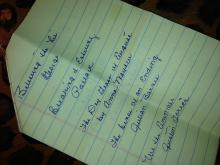 Amanda Lamb's mom's book list
