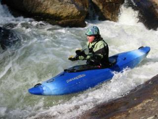 Elizabeth Gardner kayaking