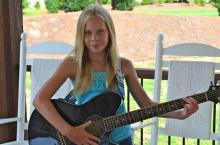 Brooke Hatala, 11, will perform at Pullen' Together for Breezy Point from 4 p.m. to 6 p.m., Saturday, at Pullen Park in Raleigh.