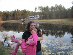 Kerri Hall with daughter. Hall shared her story dealing with postpartum depression on Go Ask Mom.