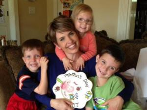 WRAL's Sloane Heffernan with her kids on Mother's Day 2013.
