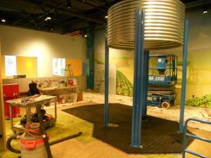 A silo will be part of the fun at Marbles' Around Town exhibit. Photo courtesy of Marbles.