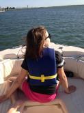 Amanda Lamb's daughter enjoys a summer day.