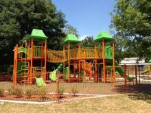 North Raleigh's Millbrook Exchange Park is getting a new playground. The park at 1905 Spring Forest Rd. is scheduled to open in early June.