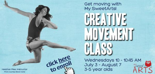 My SweetArts creative movement class