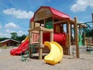 The largest part of the children's playground looks ready, but it still needs a little more work. Courtesy: Town of Knightdale