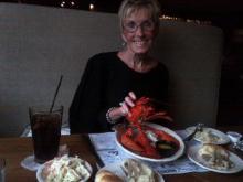Sloane Heffernan's mom enjoys a lobster lunch
