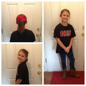 Mike Slawter's daughter is all ready for the first day of school.