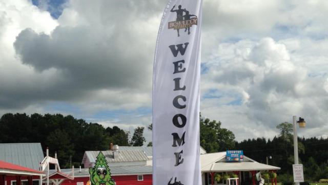 Big Muddy Challege welcome sign