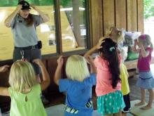 Amy Dombrowski leads a preschool nature program at Crowder District Park