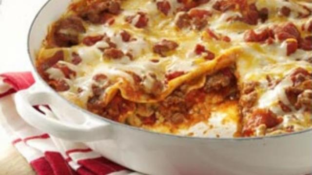 Skillet lasagna. Courtesy: Lil' Chef