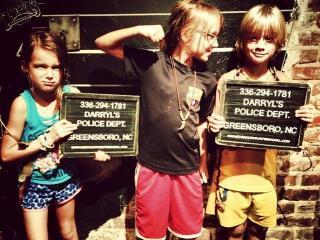 Lynda Loveland's kids at Darryl's in Greensboro