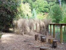 Nature play area at Prairie Ridge Ecostation